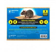 Ξύλινη παγίδα ποντικιών με κόλλα 2τμχ.