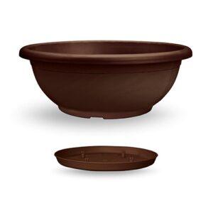 Πιατέλα Naxos με ενσωματωμένο πιάτο (χρώμα Μπρονζέ)