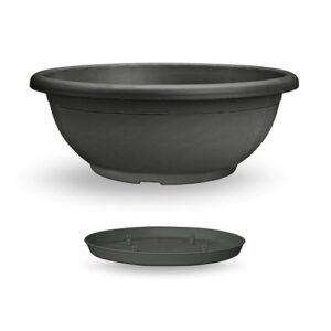 Πιατέλα Naxos με ενσωματωμένο πιάτο (χρώμα Ανθρακί)