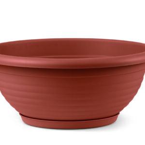 Πιατέλα Napoli με ενσωματωμένο πιάτο (χρώμα Τερακότα)