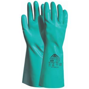 Γάντια νιτριλίου οξέων H4010 πράσινα