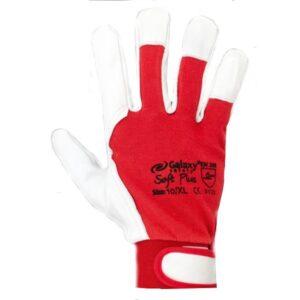 Γάντια δερματοπάνινα με βέλκρο στον καρπό Galaxy Soft Plus