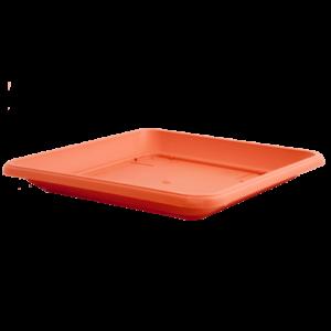 Πιάτο τετράγωνο (χρώμα Τερακότα)