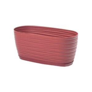 Ζαρτινιέρα Sahara petit box με ενσωματωμένο πιάτο (χρώμα Marsala)