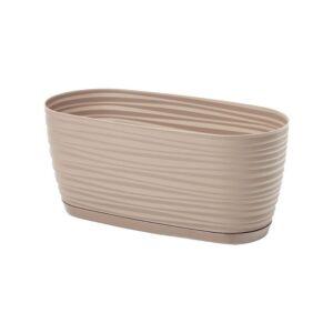 Ζαρτινιέρα Sahara petit box με ενσωματωμένο πιάτο (χρώμα Taupe)