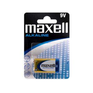 MAXELL Αλκαλικές Μπαταρίες 9V 6LR61, 1τμχ